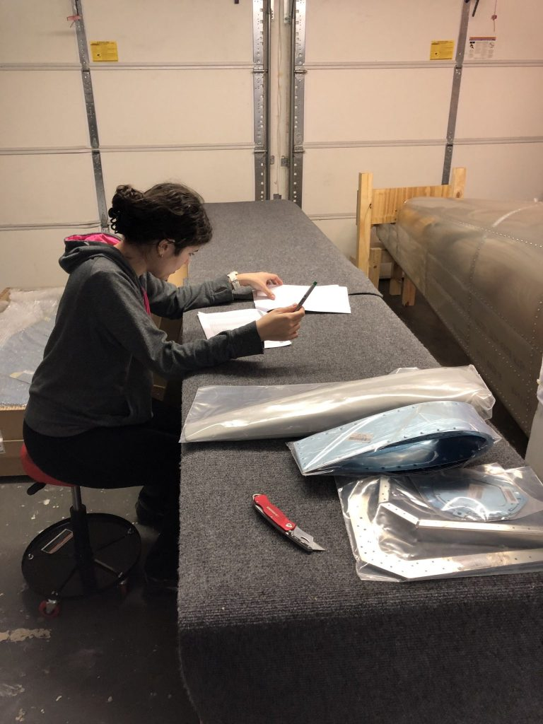 Taking inventory of the Empennage Kit
