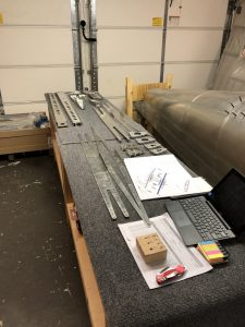 Laying out parts of the Horizontal Stabilizer