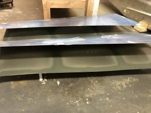 Horizontal Stabilizer mating surfaces primed