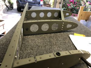 Inner structure of the Vertical Stabilizer riveted together