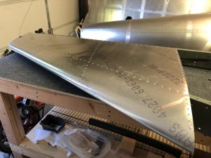 Done riveting the skins of the Vertical Stabilizer