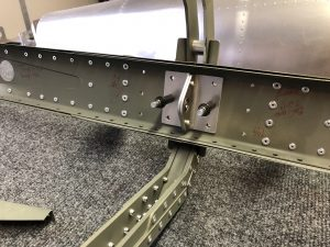 New ribs in place and a final picture of a few rivets that people that visited helped pull