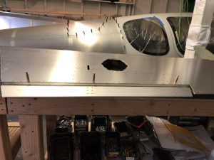 Elevator trim tab temporarily mounted
