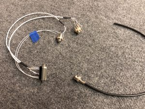 Finished Headset connector and crimped BNC Antenna connector