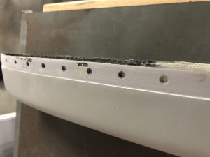 Finished countersinking the holes
