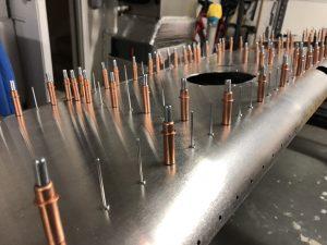 Setting up rivets