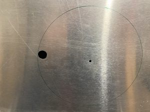 Pilot holes drilled